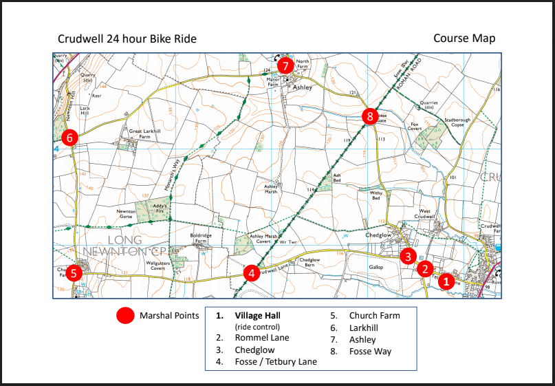 Course Map (with marshal points)